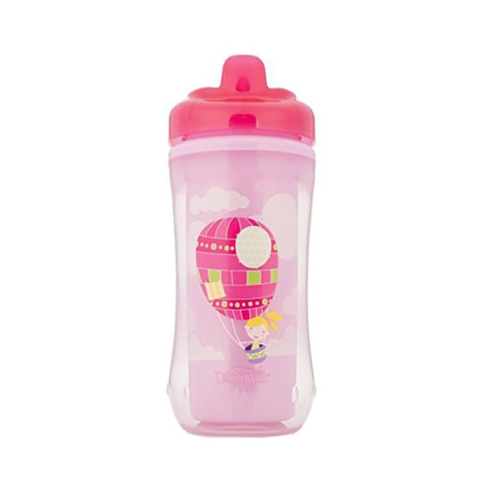 Dr. Brown's Hard Spout Insulated Cup Assorted Pink