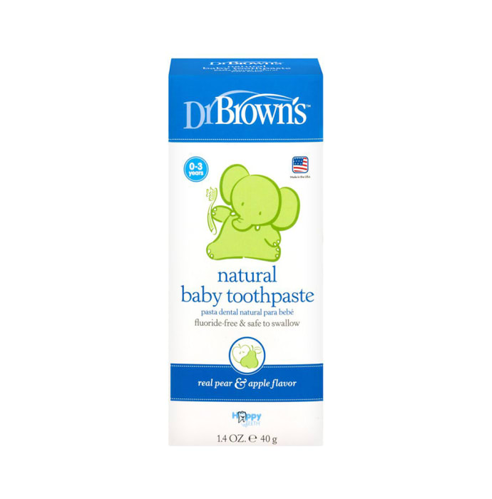 Dr. Brown's Natural Baby Toothpaste Real Pear & Apple Flavour