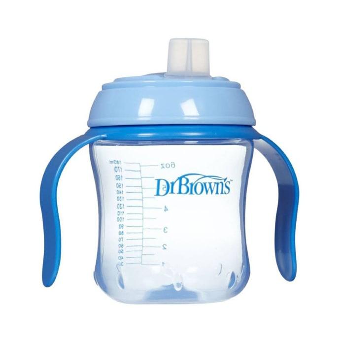 Dr. Brown's Natural Flow Soft Spout Cup 6M+ Blue