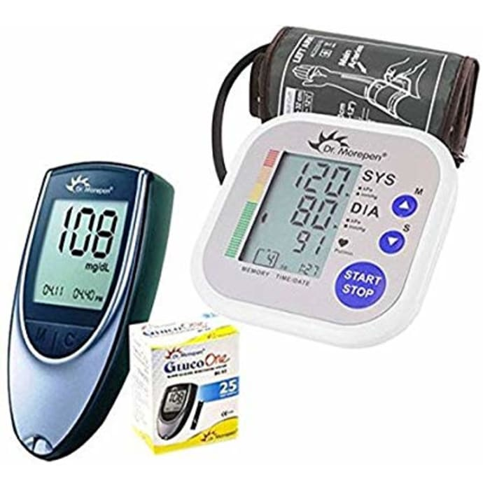 Dr Morepen Combo of BP02 Blood Pressure Monitor and BG03 Glucose Check Monitor