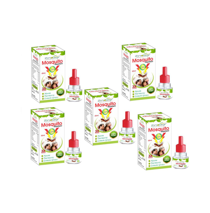 Zindagi Mosquito Repellent  (45 ml Each - Buy 4 Get 1 Free)