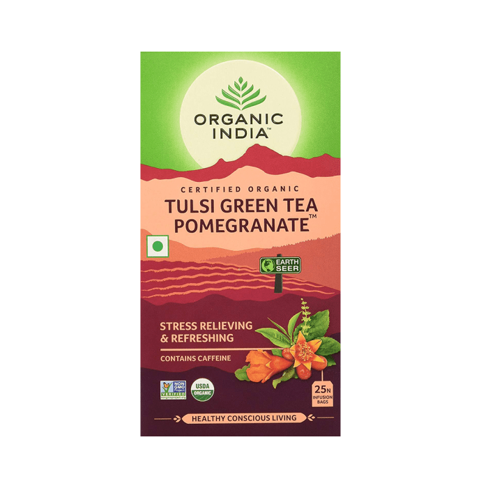 Organic India Tulsi Green Tea Pomegranete