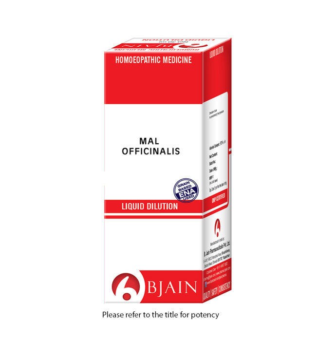 Bjain Mal Officinalis Dilution 1000 CH
