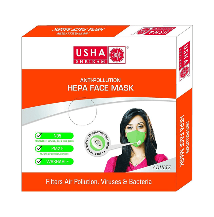 Usha Shriram N95 Anti Pollution HEPA Face Mask for Adults