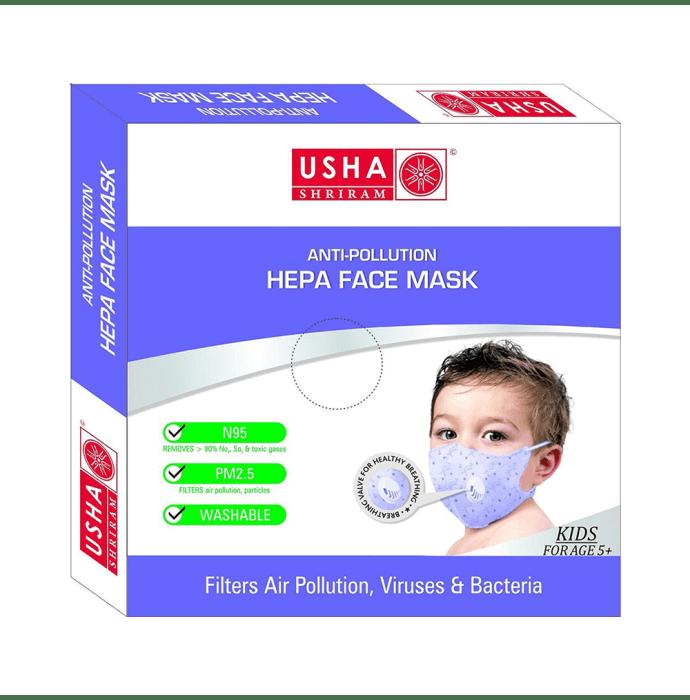 Usha Shriram N95 Anti Pollution HEPA Face Mask for Kids Pack of 4