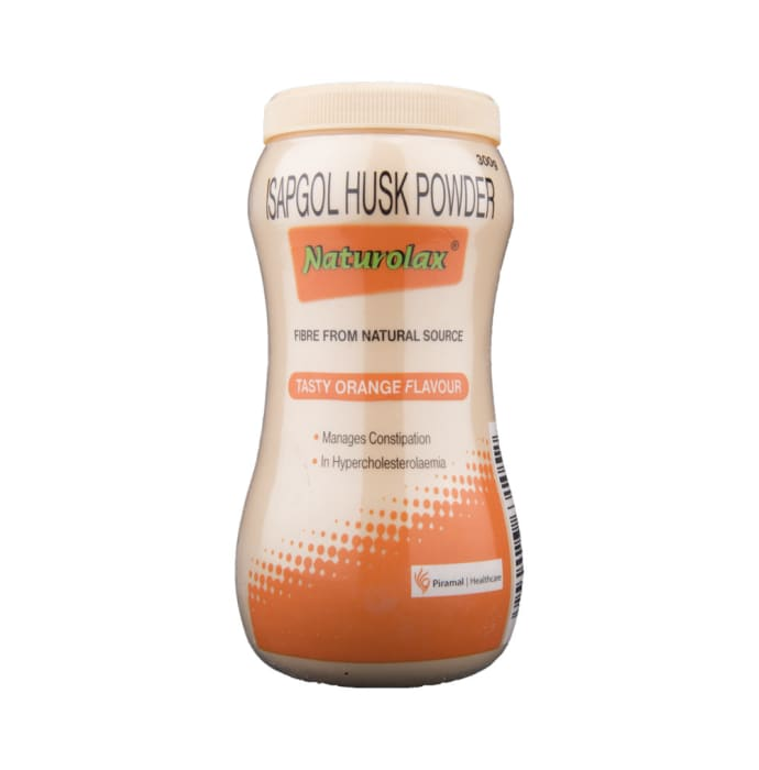 Naturolax Isapgol Husk Powder - Natural Fibre Supplement Orange