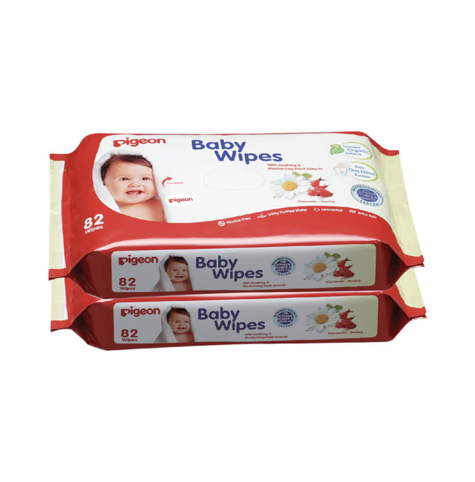 Pigeon Baby Wipes, Chamomile+rosehip Refill Pack Pack of 2