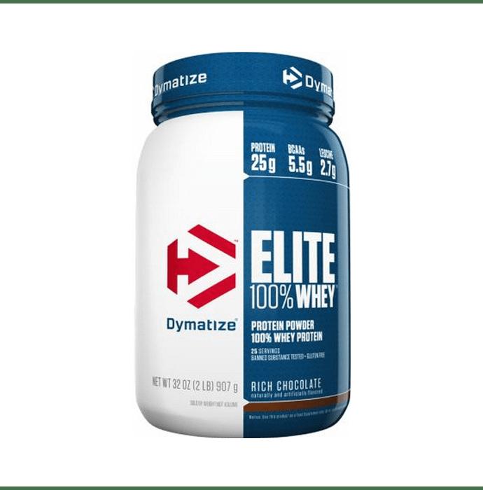Dymatize Nutrition Elite 100% Whey Protein Powder Rich Chocolate