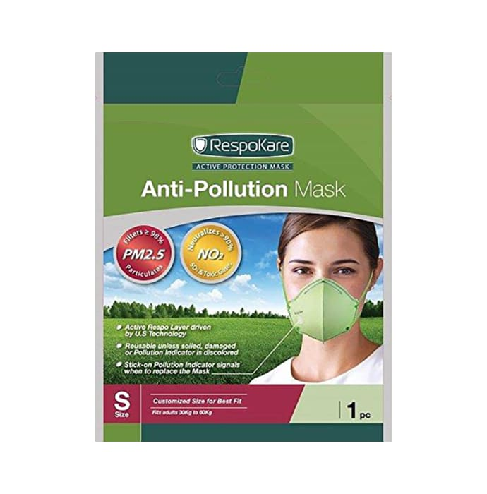 Respokare Anti-Pollution Mask S Green
