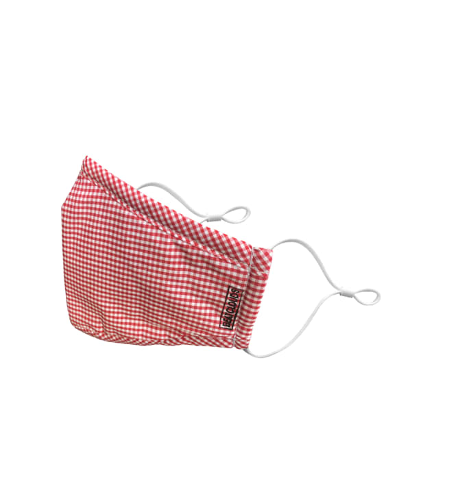 Beatclouds Adult N95 PM 2.5 Anti Pollution Facemask for PM 2.5, Virus, Bacteria and Allergies Red