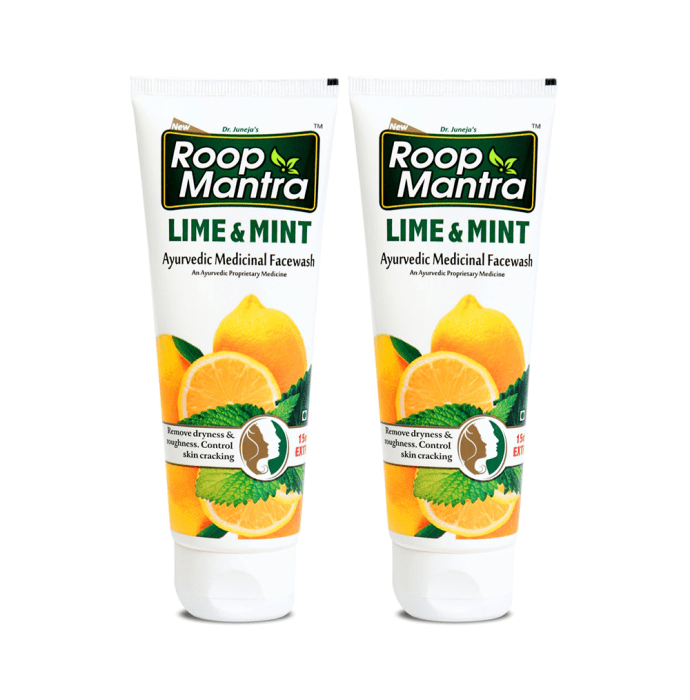 Roop Mantra  Lime & Mint Face Wash Pack of 2