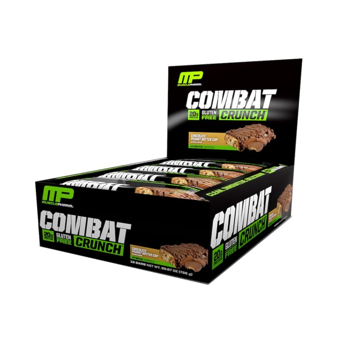 Muscle Pharm Combat Crunch Bars (63g Each) Chocolate Peanut Butter Cup