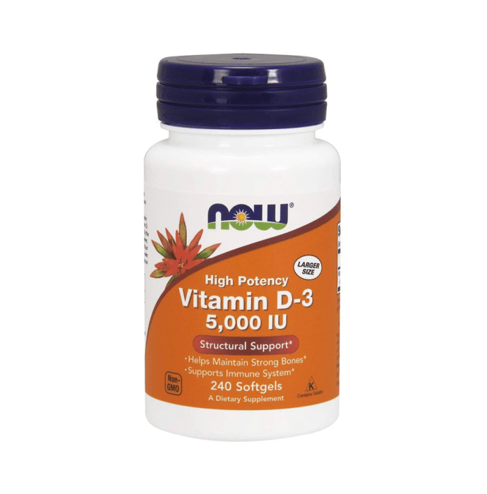 NOW Foods Vitamin D-3 5000IU Softgels