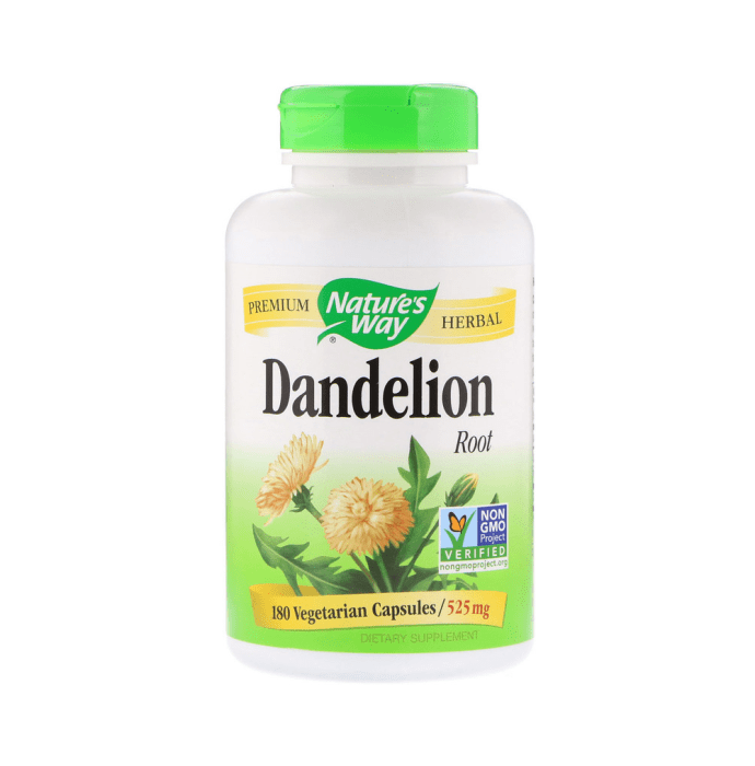 Nature's Way Dandelion Root 525mg Vegetarian Capsule
