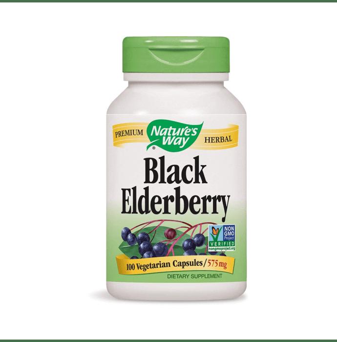 NOW Foods Black Elderberry 575mg Vegetarian Capsule