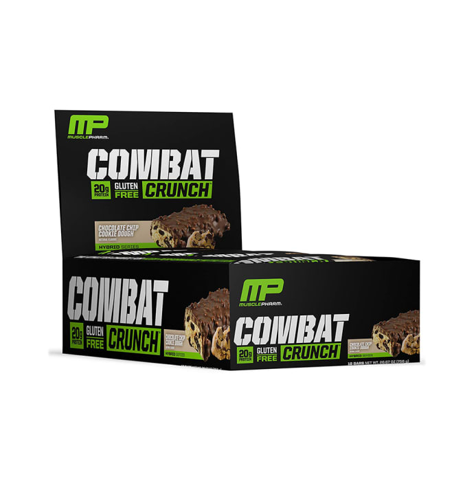 Muscle Pharm Combat Crunch Bars (63g Each) Chocolate Chip Cookie Dough