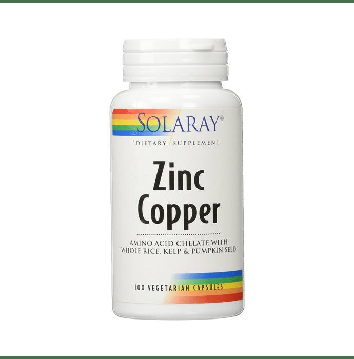 Solaray Zinc Copper Vegetarian Capsule