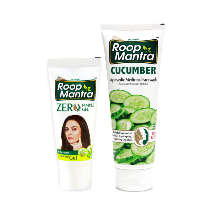 Roop Mantra  Combo Pack of Zero Pimple Gel 15gm & Cucumber Face Wash 115ml