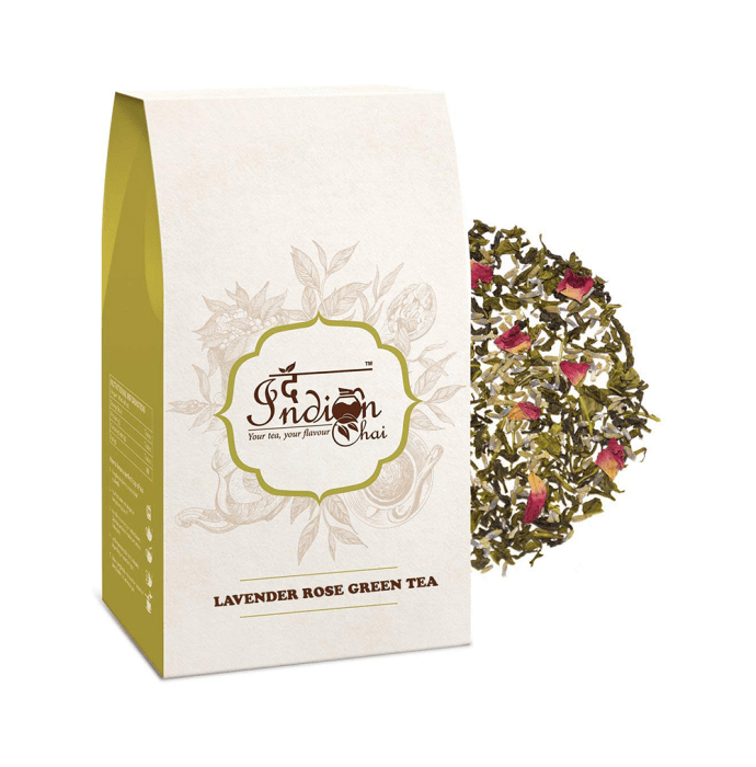 The Indian Chai Lavender Rose Green Tea