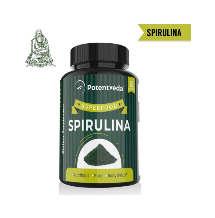 Potentveda Spirulina Superfood 800mg Capsule