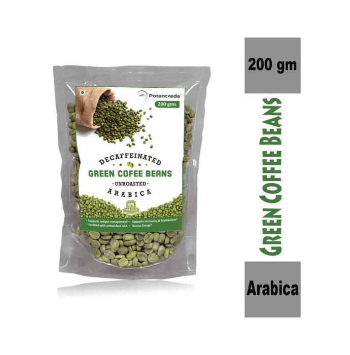 Potentveda Green Coffee Beans-Unroasted Arabica Weight Loss Supplement