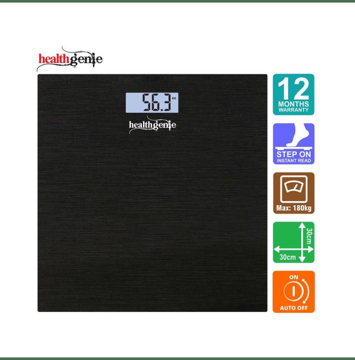 Healthgenie HD-221 Digital Weighing Scale Brushed Black