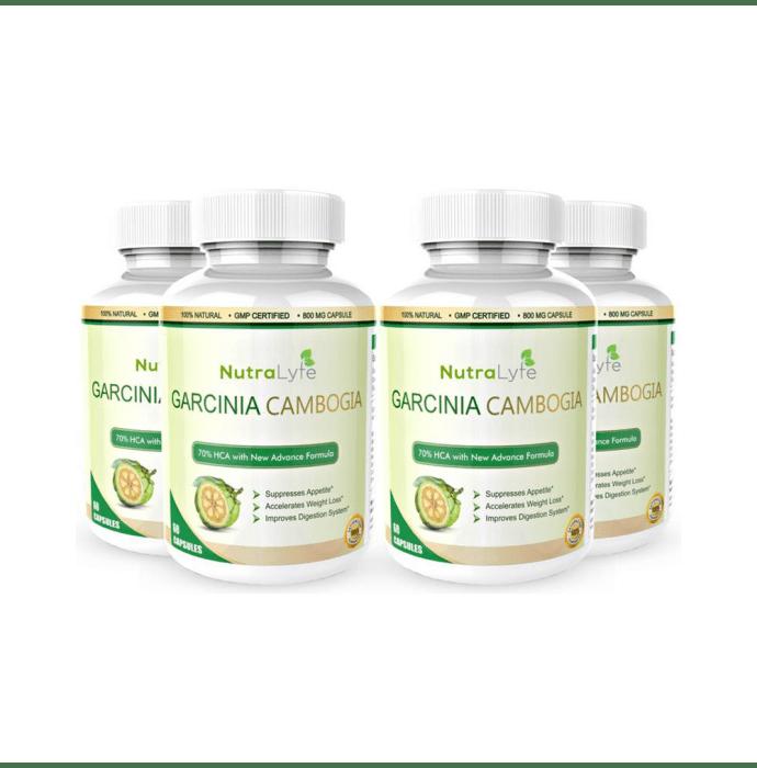 Nutralyfe 100% Natural & Herbal Garcinia Cambogia Extract Capsule Pack of 4