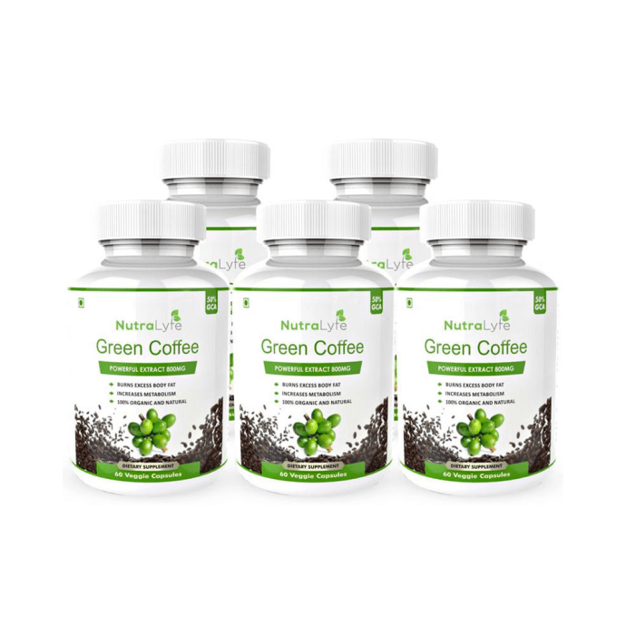 Nutralyfe Green Coffee Bean Extract Veggie Capsule Pack of 5