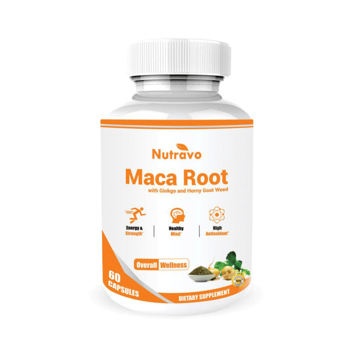 Nutravo Maca Root with Horny Goat Weed & Ginkgo Biloba Extract Capsule