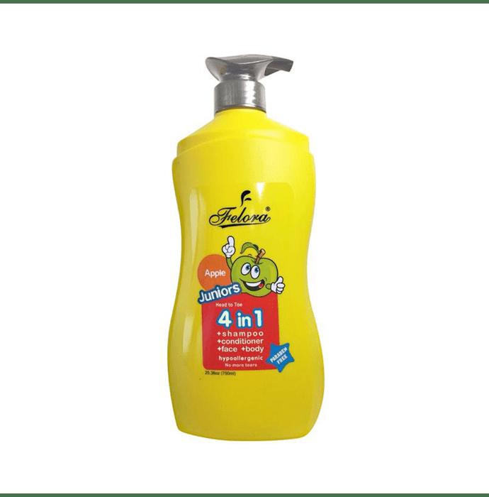 Felora Juniors Head to Toe 4 in 1 Shampoo + Conditioner + Bodywash Apple