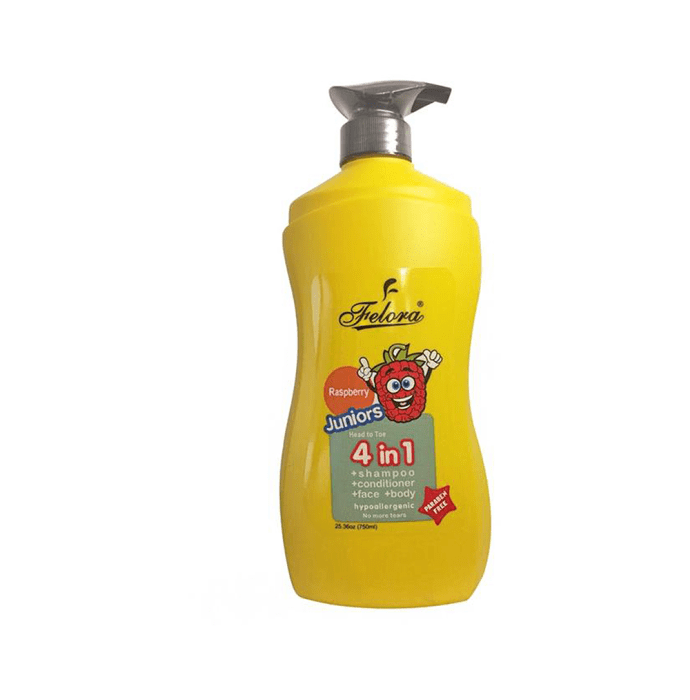 Felora Juniors Head to Toe 4 in 1 Shampoo + Conditioner + Bodywash Raspberry