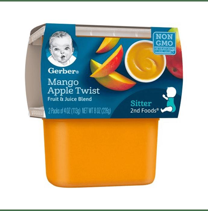 Gerber 2nd Sitter Baby Foods (2 Packs of 113 gm Each) Mango Apple Twist