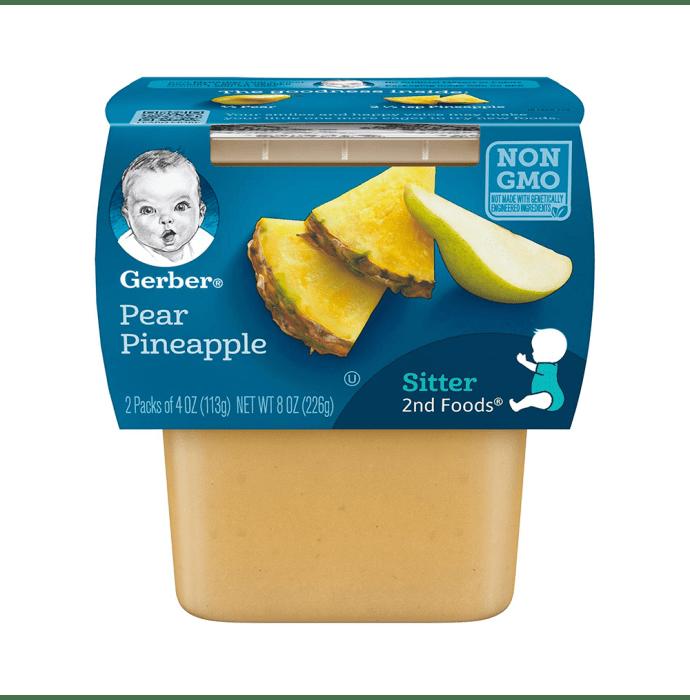 Gerber 2nd Sitter Baby Foods (2 Packs of 113 gm Each) Pear Pineapple