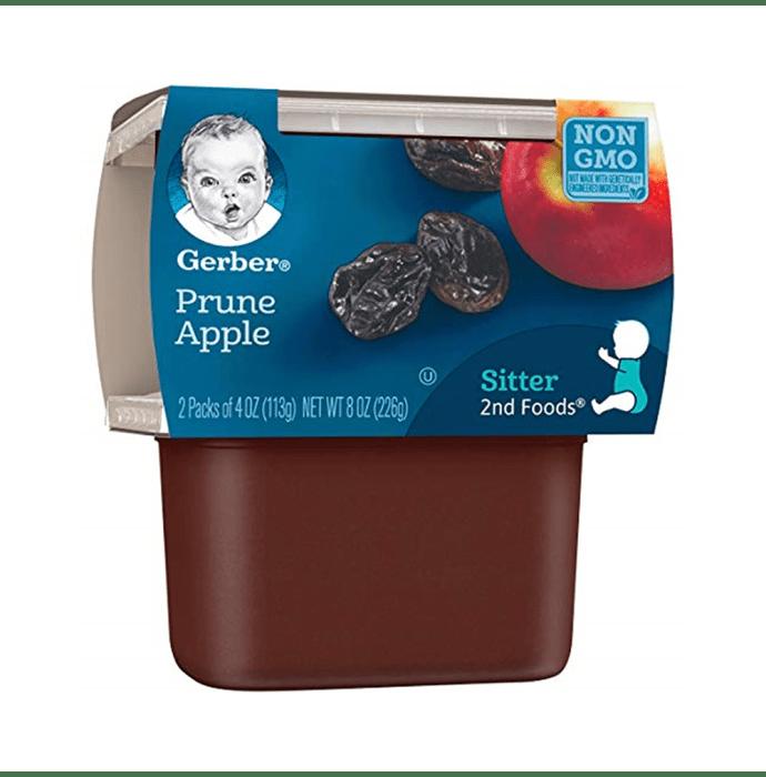 Gerber 2nd Sitter Baby Foods (2 Packs of 113 gm Each) Prune Apple