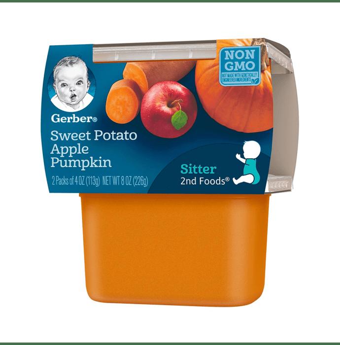 Gerber 2nd Sitter Baby Foods (2 Packs of 113 gm Each) Sweet Potato Apple Pumpkin