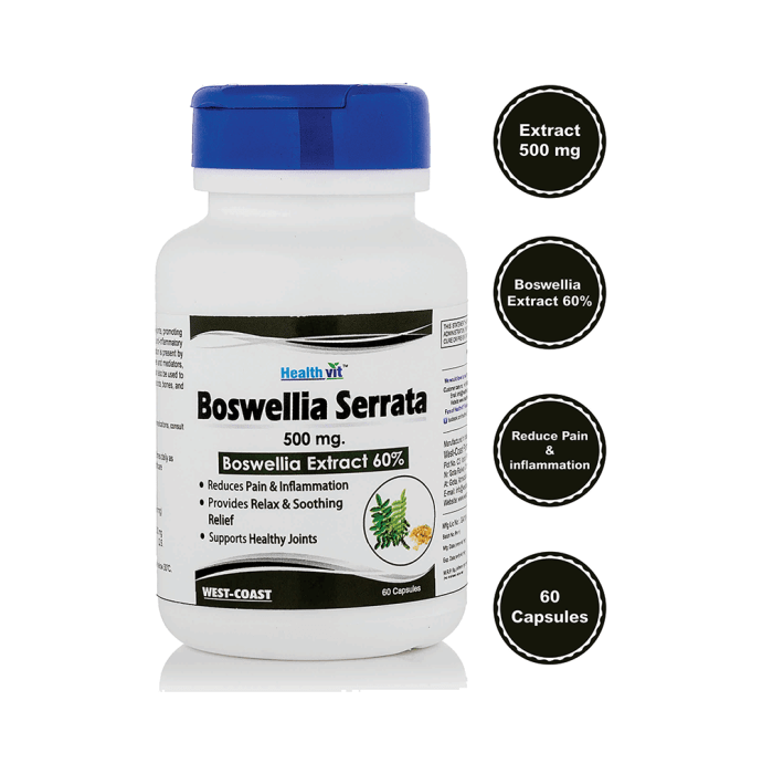 HealthVit Boswellia Serrata 500mg Capsule