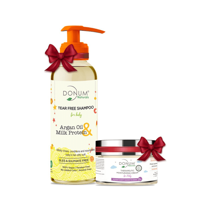 Donum Naturals Combo Pack of Tear Free Shampoo & Therapeutic Cream for Baby