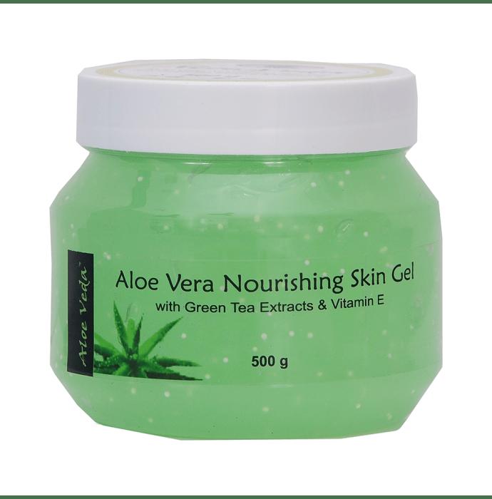 Aloe Veda Nourishing Aloe Vera Gel (with Green Tea Extracts & Vitamin E)