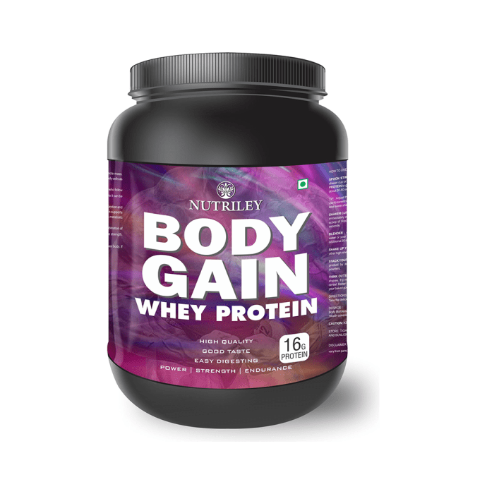 Nutriley Body Gain Whey Protein Powder Kesar Pista Badam