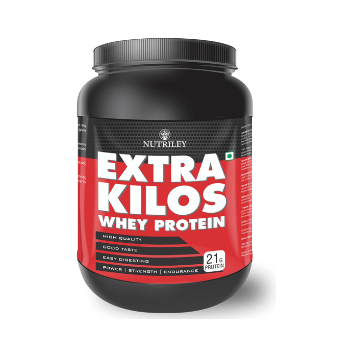 Nutriley Extra Kilos Whey Protein Powder Strawberry