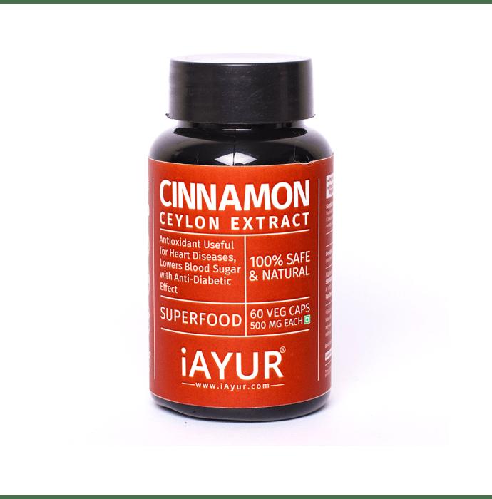 iAYUR Cinnamon Extract 500mg Veg Capsule