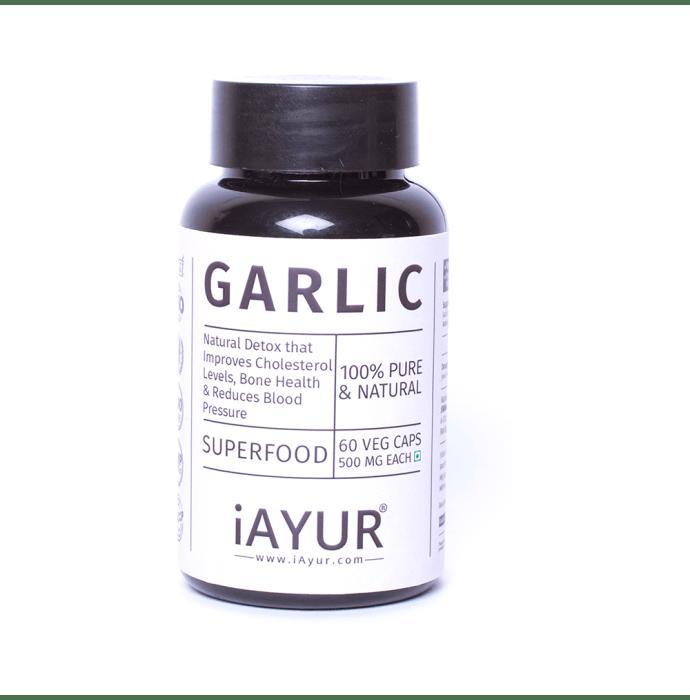 iAYUR Garlic Extract 500mg Veg Capsule
