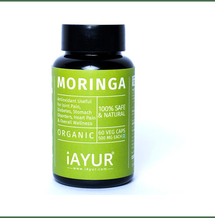 iAYUR Moringa Extract 500mg Veg Capsule