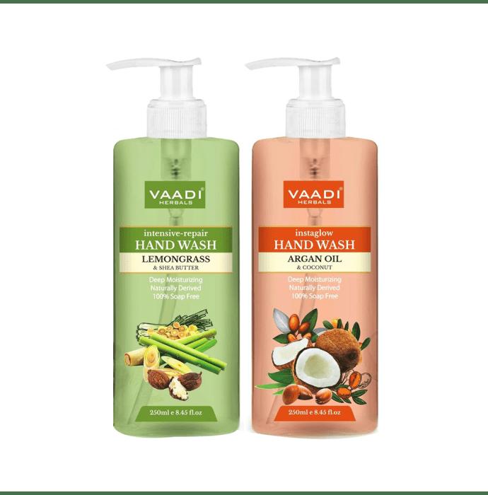 Vaadi Herbals Combo Pack of Lemongrass 250ml and Argan Oil 250ml Handwash