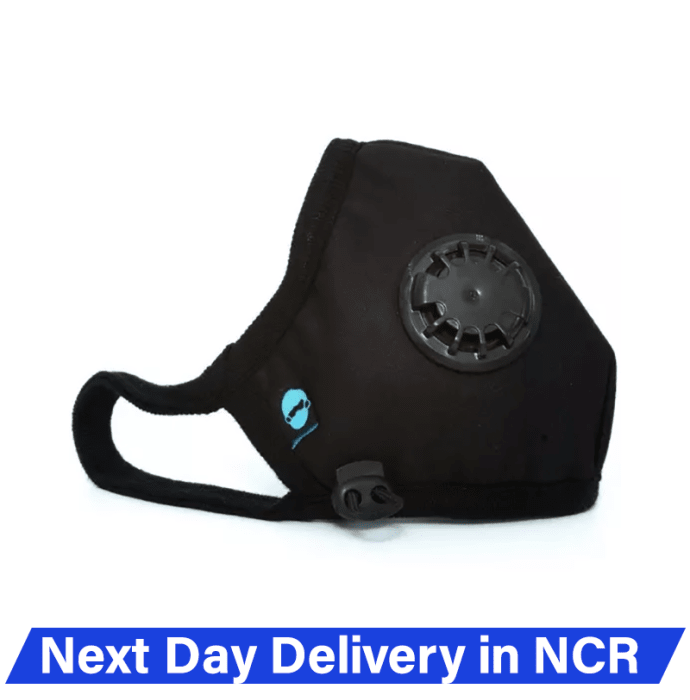 Atlanta Cambridge N95 Basic Anti Pollution Face Mask for PM 2.5, Virus and Bacteria Filtration XL Black