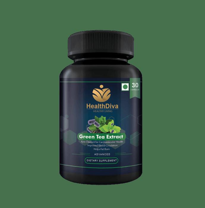 HealthDiva Green Tea Extract Capsule