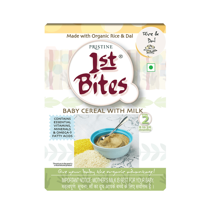 Pristine 1st Bites (8 Months - 24 Months) Stage - 2 Baby Cereal with Milk Rice and Dal