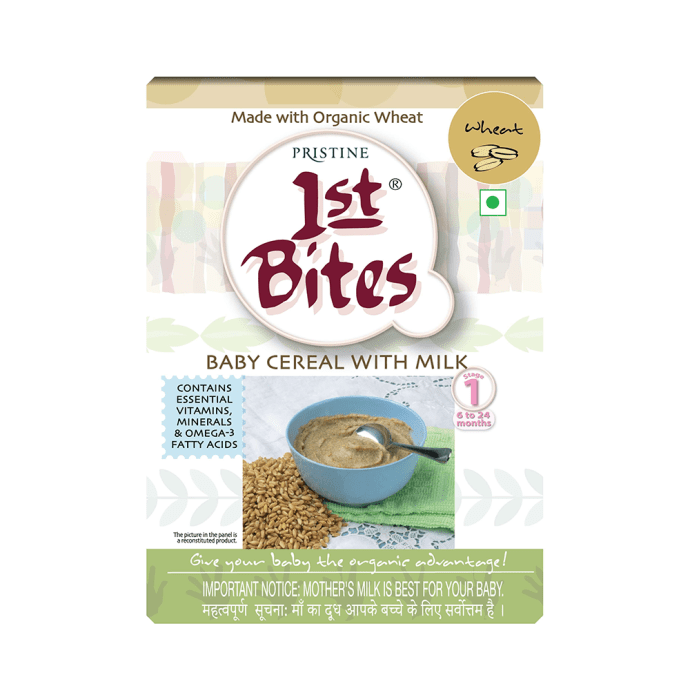 Pristine 1st Bites (6 Months - 24 Months) Stage-1 Baby Cereal with Milk Wheat