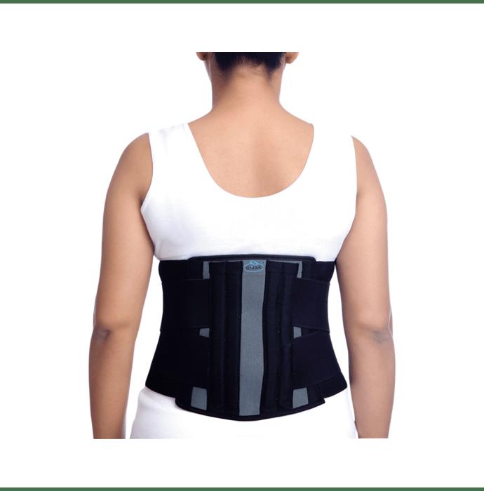 Elnova 1321 Surgical Lumbo Sacral Corset XL Black