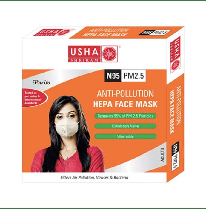 Usha Shriram Purito N95 PM2.5 HEPA Anti Pollution Face Mask